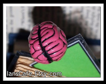 Zombie Wants Brains - Sculptural Bookmark - HORROR GIFT