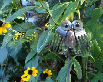 Owls Made of Silverware
