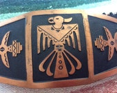 Vintage Native American Solid Copper Elastic Waist Belt