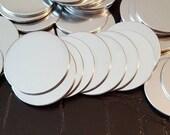 "Stamping Blanks Aluminum 16 gauge round - 1 1/4"" de-burred aluminum discs-stamping blanks-aluminum blanks-aluminum discs-Qty 10"
