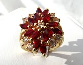 Vintage Red Stone Cocktail Ring