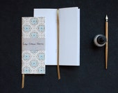 "Vintage Wallpaper Notebooks (Blue Flowers: Tall size 3x8"")"