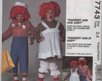 McCall's Costume Raggedy Ann Sewing Pattern
