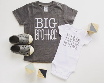 Big Brother shirt and litte brother bodysuit   new baby announcement   sibling shirts   cute brother shirt   big bro shirt   little bro
