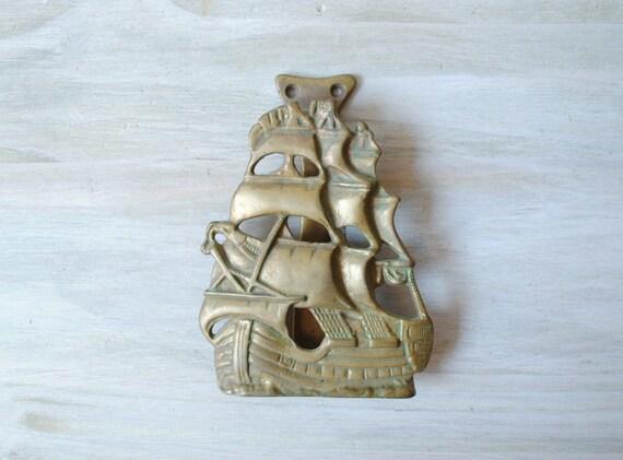Vintage ship door knocker nautical door knocker - Nautical door knockers ...