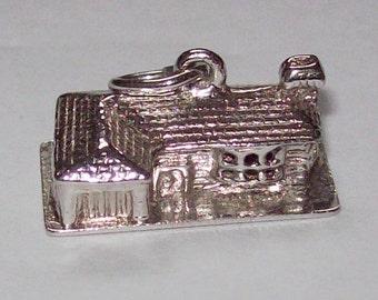 1970s House Silver Coin Charm
