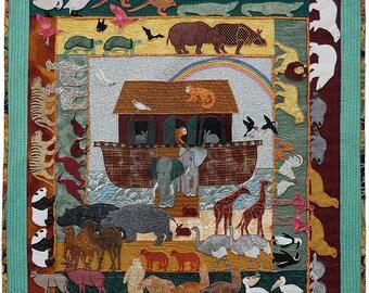 Noah's Ark, Machine Applique Pattern by Debora Konchinsky, Critter Pattern Works