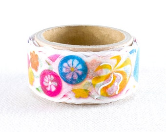 Die-Cut Japanese Washi Masking Tape / Colorful Candies with Foil Stamped for scrapbooking, packaging, invitation, card, tag making