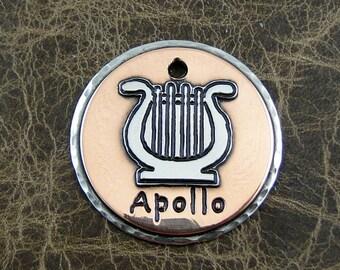 Lyre-dog-id-tag-Apollo-dog tag
