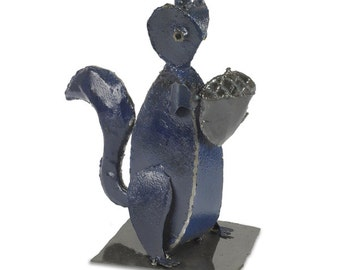 Squirrel Metal Art Sculpture Woodland Creature