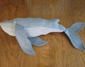 Denim Blue Whale Toy
