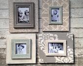 Set of 4 Coordinating Greige Frames