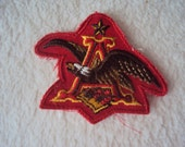 Vintage Budweiser Anheuser Busch Letter A with Eagle Uniform Sew On Patch