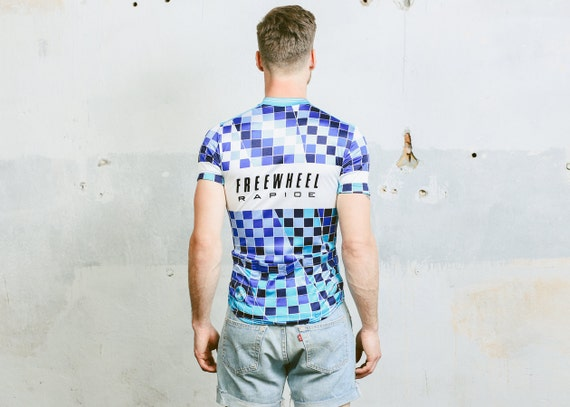 185124ca Vintage 80s Cycling Shirt Men's Retro Colour by BetaMenswear chic ...