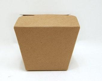 25 Natural Kraft To Go Boxes ( 3 sizes)