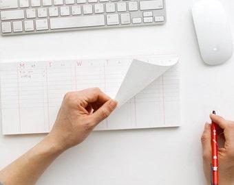Sticky Note  / Weekly Scheduler /Weekly Planner -medium size