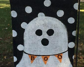 Halloween Ghost Yard Garden Flag Burlap Fall Decor