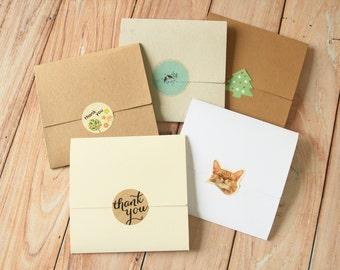 Mixed Set NO Glue CD sleeve envelopes