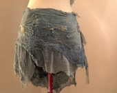 SALE Natural  hemp wild spirit wrap skirt, Elven Faerie clothing, festival burning man raw silk.