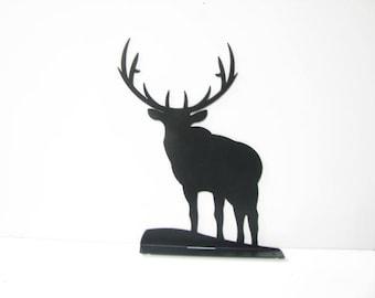 Elk Mailbox Topper Metal Wildlife Wall Art Silhouette