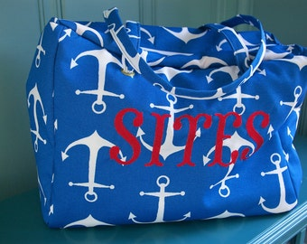 Custom Extra Large Wet Bag Tote Beach Bag...The Tate Collection
