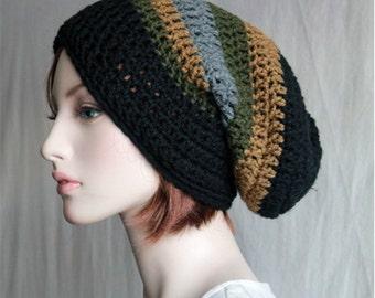 Unisex  Slouchy Hat - Winter Slouch Beanie - Crochet  Tam  Baggy Hat - Slouchy Hat Beanie - Mens Womens Teens - Winter Fashion  Beanie