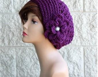 Womens Hat Winter   Flower Hat Crochet Hat  Womens Hats Crochet Hats Winter Fashion Hat Womens Accessories