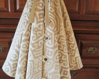 "72"" Platinum Velvet Exquisite Reversible Christmas Tree Skirt 2016 Collection"