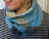 Cozy Cashmere Cowl, cowl scarf, etsy scarf, etsy recycled cashmere, gaiter, neckwarmer, blue scarf, womens cashmere scarf, etsy womens