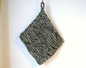 Chunky wool pot holder/trivet hand knitted