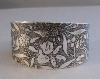 Wild Flower,Bracelet,Cuff,Silver Bracelet,Cuff Bracelet,Bracelet,Silver,Antique Bracelet,Wedding,Bride,Flower Cuff valleygirldesigns.