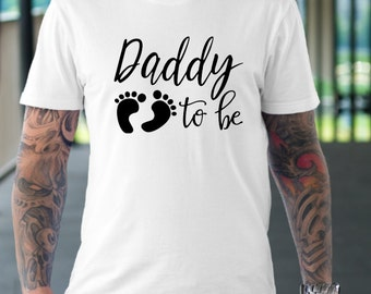 Daddy to be- dad pregnancy announcement shirt- Pregnancy announcement - New dad announcement- Trendy daddy- Hipster dad- Fathers day tshirt