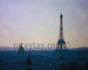 Paris Photography, Purple, Gold, Eiffel Tower, Travel, Paris Skyline, Purple Eiffel Tower, Paris Wall Decor