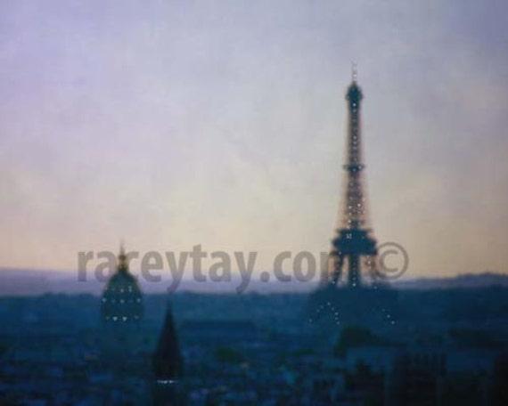 Paris Photography, Purple, Gold, Eiffel Tower, Travel, Paris Skyline, Purple Eiffel Tower, Paris Wall Decor