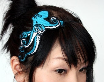 Octopus Headband, Turquoise, Sea monster Plus Other Colours