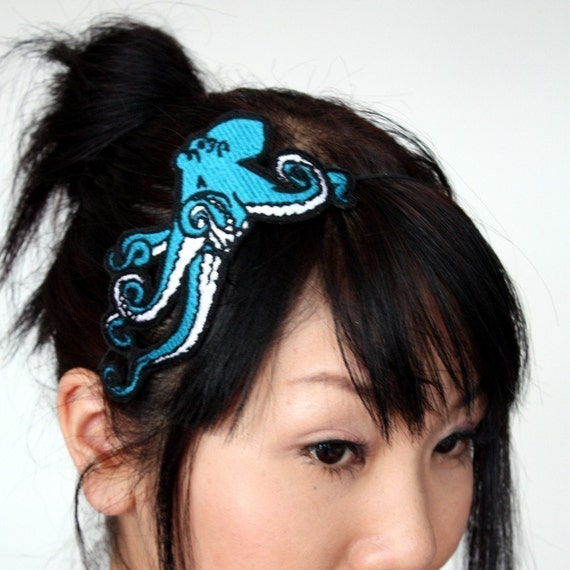 SALE - Octopus Headband, Turquoise, Sea monster Plus Other Colours - Christmas In July CIJ