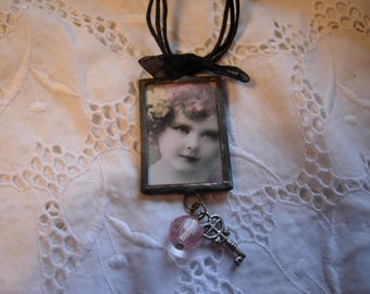 CHICA- Soldered Art Glass Pendant