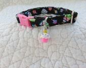 Cupcake Cat Collar  Breakaway Collar Custom Made