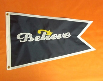 Nautical Flag Banner with Your Boat Name 16x24 inch