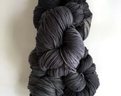 Organic Wool Yarn 8 ply DK Charcoal Steel Gray Hand Dyed  1000 grams (35 ounces)  Grey