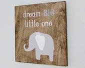 Wood Signs, Nursery, Baby, Elephant, Dream Big,  Home Decor, Nursery Decor, Wall Decor, Reclaimed Wood, Farmhouse, Barn, Woodwork