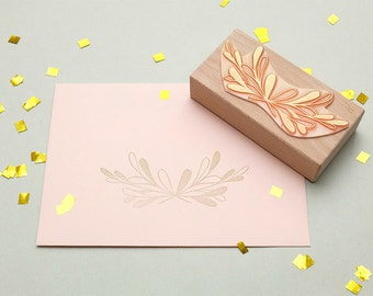 Wedding rubber stamp »bow« | for festive events | floral rubber stamp