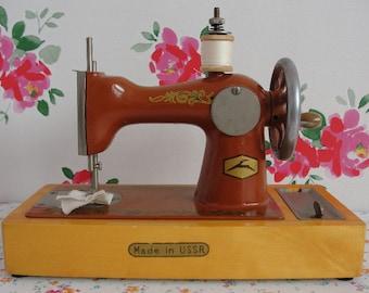 Vintage Children's Hand Sewing Machine - Made in USSR