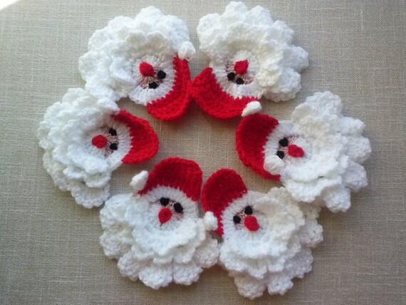 Crocheted Christmas Gnome Crochet Christmas Decoration Set