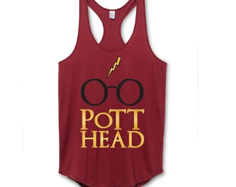 Harry Potter Fan Tank Top, The Original Pott Head Design, The Perfect Gift for the Harry Potter Fan in your life