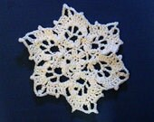 Snowflake Dishcloth Doily  Crocheted Snowflake Decoration