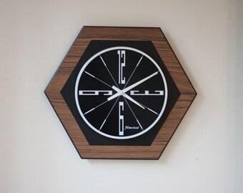 Vintage Mid Century Modern Wall Clock, Homestead, Modernist Design, George Nelson Era