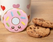 Cute Pink Delicious Donut Fridge Magnet 58mm fun food home kitchen decor