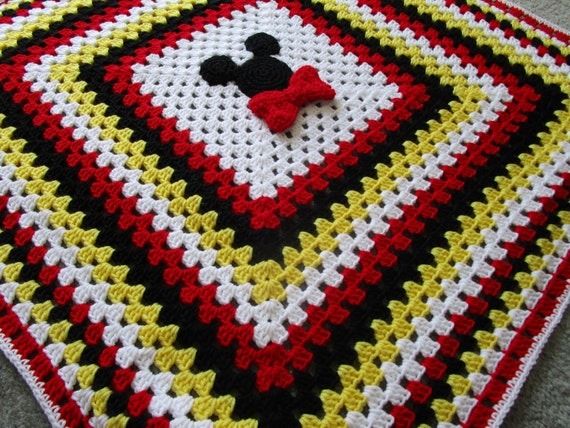 Mickey Mouse Crochet Baby Blanket Pattern : Mickey Mouse Blanket Disney Mickey Mouse Blanket Mickey