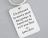 Father of the bride gift from groom - signed wedding gift for father of the bride - Father in law wedding gift - keychain keyring